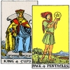 King of Cups and Page of Pentacles