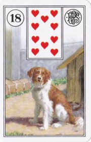 The Dog from the Petit Lenormand deck