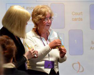 Linda Marson running a workshop at the Tarot Guild of Australia's International Tarot Conference in 2013.